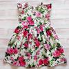 """Поплиновое платье для девочки """"Пионы"""" (рост 134 см)"""