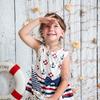 """Сатиновое платье для девочки """"Морской стиль"""" (рост 128 см)"""