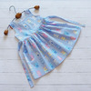 """Бязевое платье для девочки """"Смешные зверята"""" (рост 110 см)"""