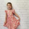 """Поплиновое платье для девочки """"Ягодная поляна"""" (рост 104 см)"""