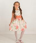 """Поплиновое платье для девочки """"Великолепная гортензия"""" (рост 122 см)"""