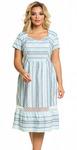 Платье 1033 цветная полоска