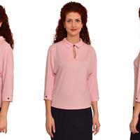 306 Блуза Светло-розовый
