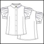 Блузка БЛ-18123-1 школа 2020