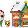 Funko 44423 POP. Town: Holiday-Santas House w/Santa & Nutmeg Collectible Figure, Multicolour, Multicolor