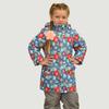 Удлиненная зимняя куртка для девочки, модель ЗУ68 цвет снежинки