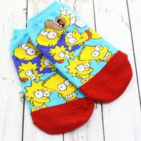 """Короткие женские носки """"Симпсоны"""""""