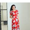 #106898 Платье Красный/набивка