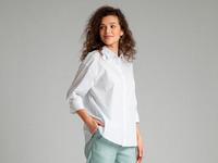 Однотонная рубашка B2540/amina