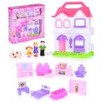 Дом для кукол с мебелью и четыре фигурки свет/звук, в коробке