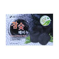 3W CLINIC Coal Soap Мыло для лица и тела c БАМБУКОВЫМ УГЛЕМ, 120 гр