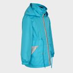 Куртка-ветровка для девочки, модель В16, цвет голубой