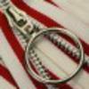 молния белый, красный, кольцо. 18 см