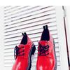 Женские ботинки 662-7 бордовые