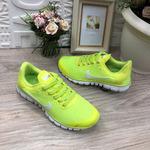 Женские кроссовки 8012-10 кислотно-желтые