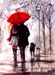 Картина по номерам Paintboy «под зонтом и без:всё, как и должно быть...»