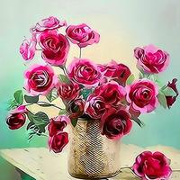 Картина по номерам Paintboy «букет красивых розовых роз»