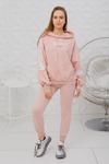 Женская толстовка 55508-1 с полосками розовая