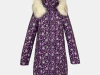 Пальто зимнее для девочки, модель Н532, цвет узоры