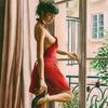 Картина по номерам 40х50 - Женщина в красном