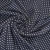 Плательная ткань синего цвета в горох