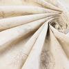 Ткань льняная набивная  Одуванчики, фон суровый