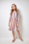 Платье детское для девочек Aelita полоска 152 см