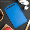 Доска разделочная 17x27 см, цвет синий
