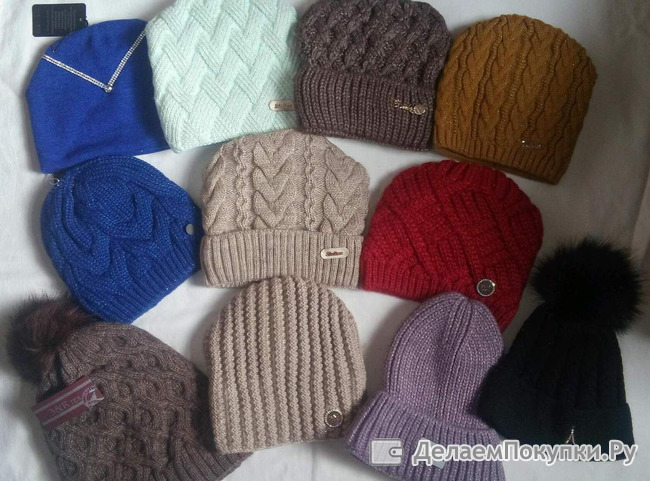 Пристрой шапок и комплектов (шапка +снуд)