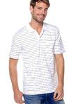 Мужская рубашка поло с короткими рукавами в простой трикотаж с фантазийными полосками