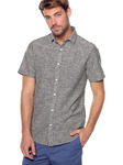 Мужская рубашка с короткими рукавами slim fit в эффекте vigore