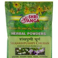 Шанкхапушпи Чурна, тоник для мозга, 100 г, производитель Шри Ганга; Shankhpushpi Churna, 100 g, Shri Ganga