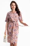 """Платье """"Девушка с обложки"""" (персик, цветы)"""