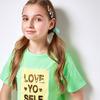 Футболка детская для девочек Fanatic светло-зеленый 146 см