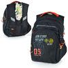Рюкзак школьный (черный - оранжевый)