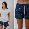Женские хлопковые шорты с кошками джинсовые