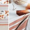 Портьера блэкаут печать бело-бежевого цвета с узором