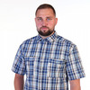 Рубашка шотландка кор/р б/р