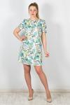 #101985 Платье Бирюзовый/зеленый
