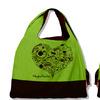 Эко-сумка (сердце) цвет зеленый