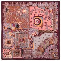 """Платок из шерстяной разреженной ткани, с подрубкой """"Весенняя фантазия"""", вид 7, 115х115 см Рисунок 630-7"""