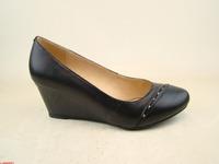 W11912  Туфли жен нат кож черн