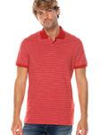 Мужская рубашка поло с короткими рукавами, вязаная пике, огнезащитная, двухцветная полоса