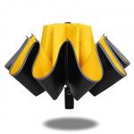 """UMBR-8001 """"обратный"""" зонт, усиленная конструкция, имеет светоотражающую окантовку"""