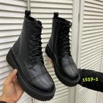 Женские зимние ботинки 1357-1 черные