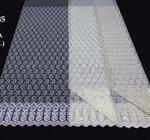 Сетка вышивка с кордовой нитью 385 2,9м Артикул: 26/12М385-496 молоко Состав ткани: 100% полиэстер