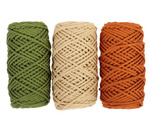 Шнур для вязания полиэфирный, 3 мм, 50 м / 105 г, набор 3 шт. 3676593-2