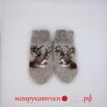 Пуховые варежки Малышка олененок 3-7 лет