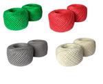 Шпагат джутовый, цветной d= 2 мм*50м, упак/8шт, ассорти 117-300503