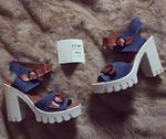 Босоножки женские комбинированные ED'ART 8010.828'w.jeans